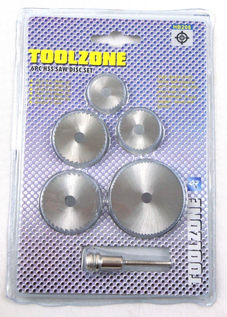 Toolzone 6Pc Hss Saw Discs