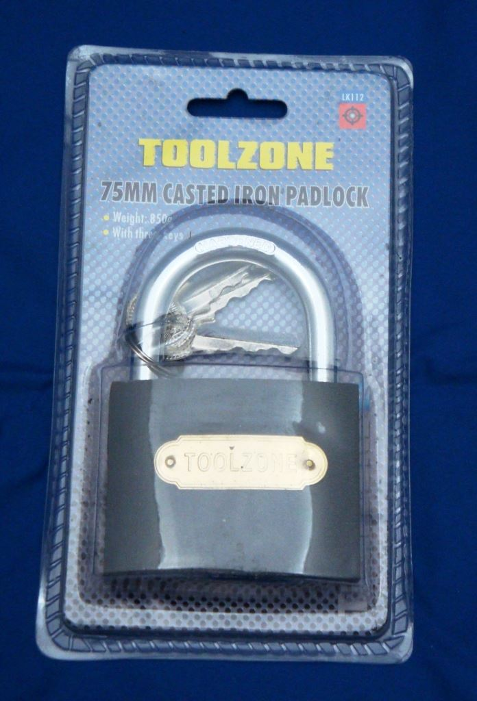 Toolzone 75Mm Iron Padlock