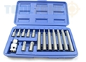 "Toolzone 15Pc Star Bits With 1/2"" Adapto"