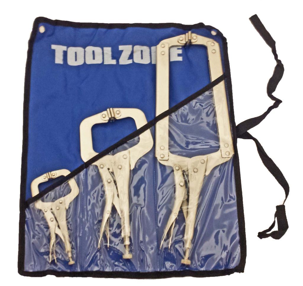 "Toolzone 3Pc C Clamp Set 6, 11 & 18"" Swivel Pa"