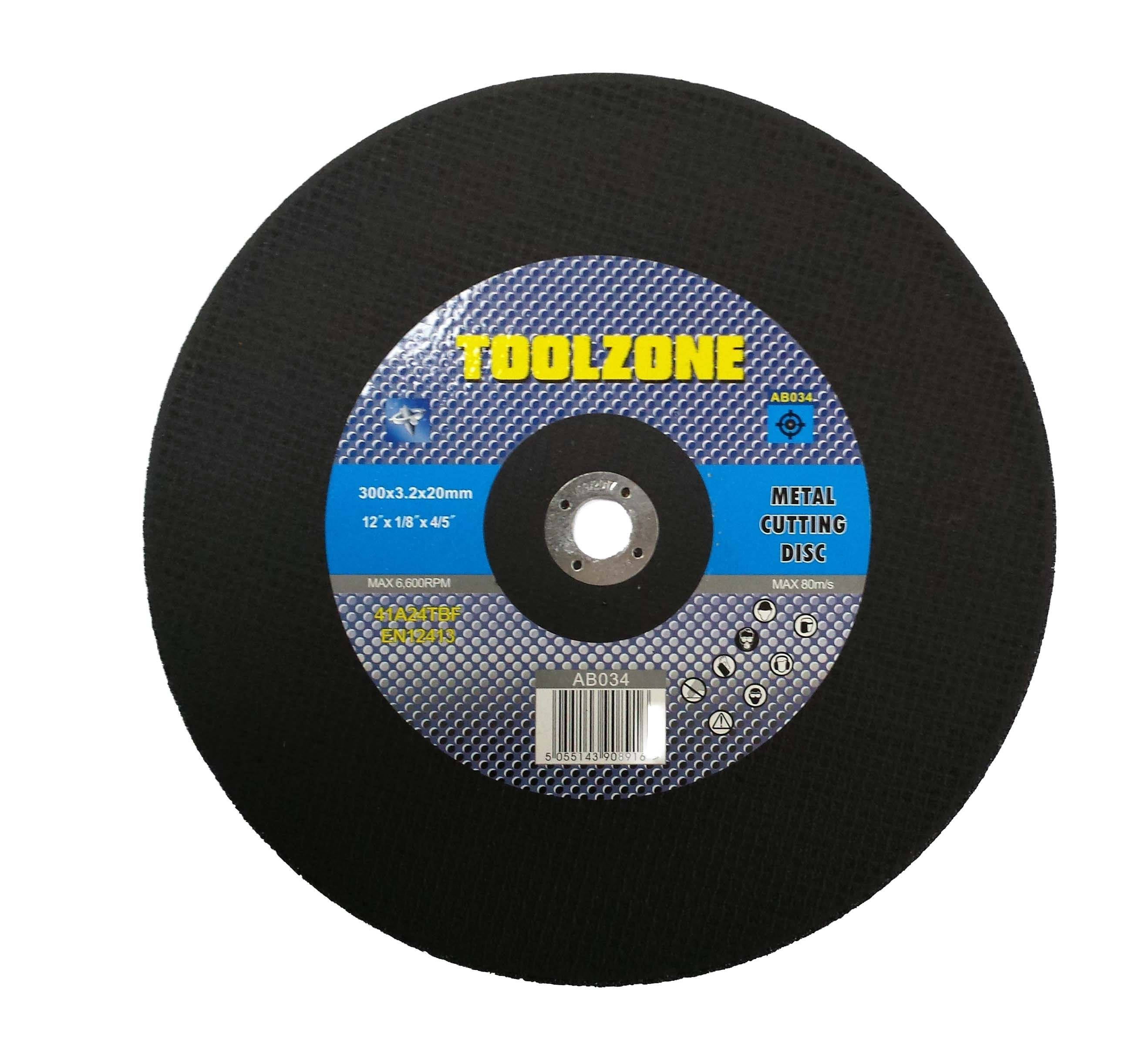 "Toolzone 12"" Metal Cutting Disc Flat"