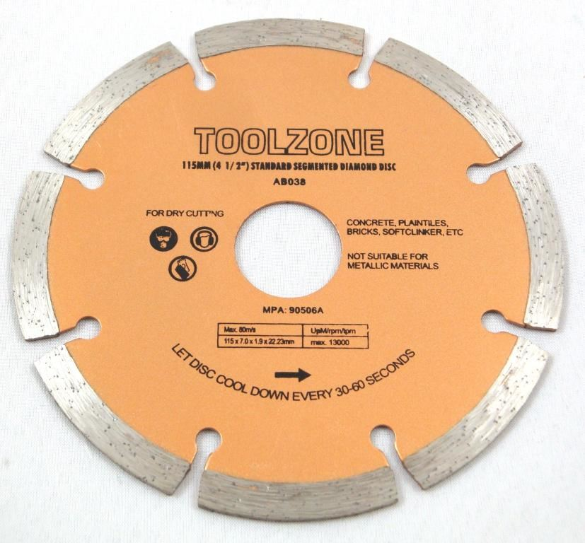 "Toolzone 41/2"" Seg. Diamond Cutting Disc"