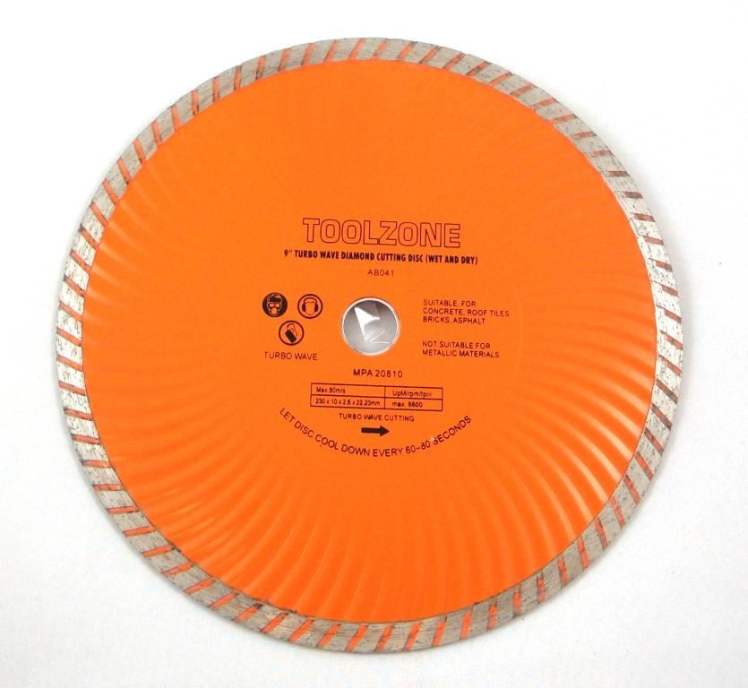 "Toolzone 9"" Turbo Wet & Dry Diamond  Disc"