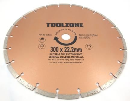 "Toolzone 12"" Segmented Diamond Cut Disc"