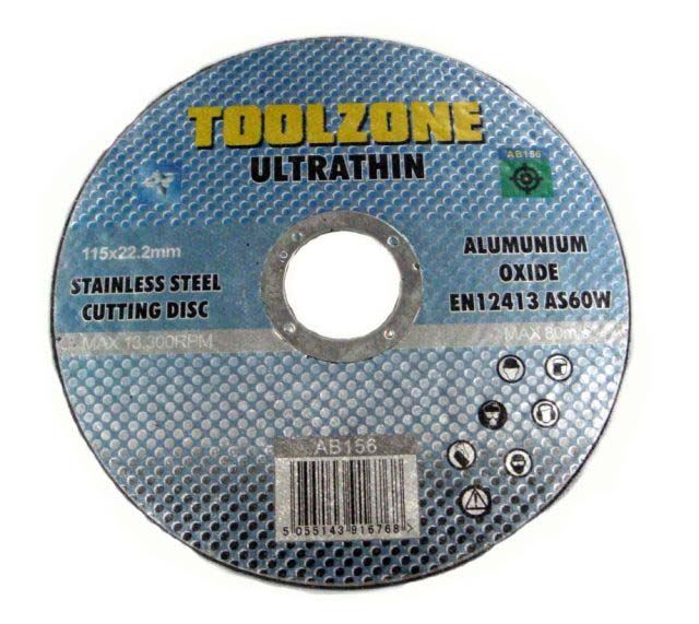Toolzone 115Mm Ultrathin S/S Cut Disc As60w
