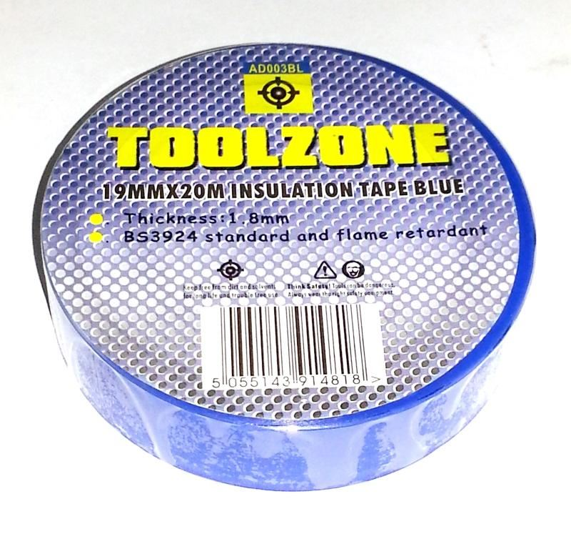 Toolzone Blue Pvc Insulation Tape 19Mm X 20M