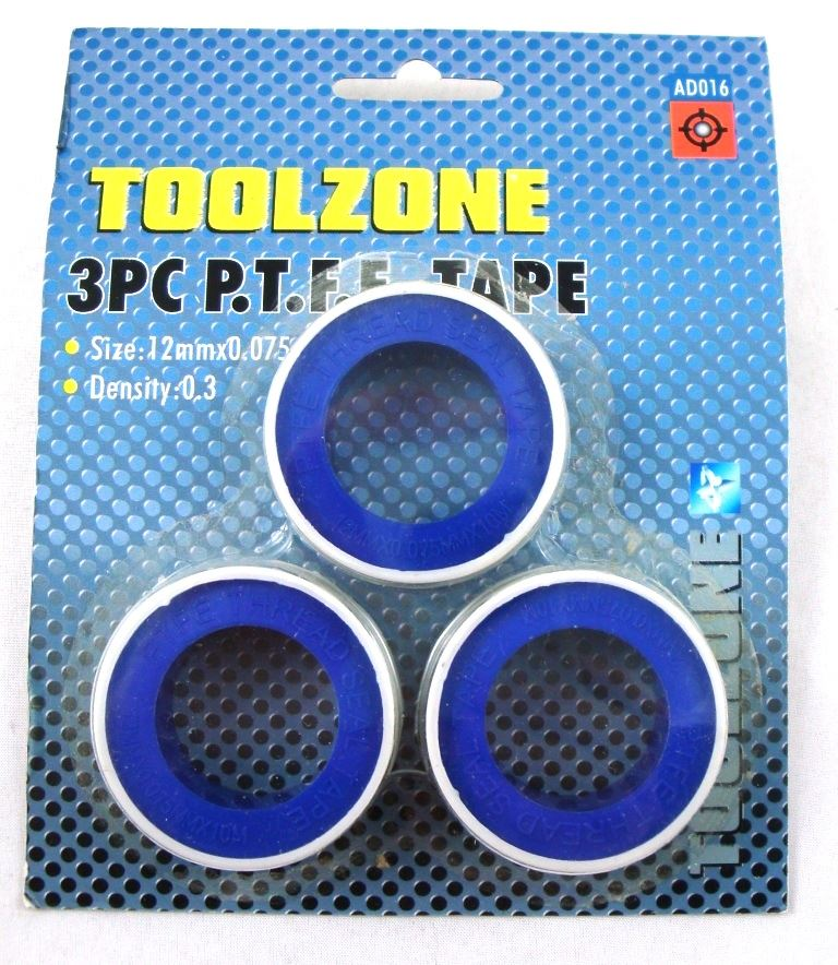 Toolzone 3Pc Ptfe Plumbers Tape