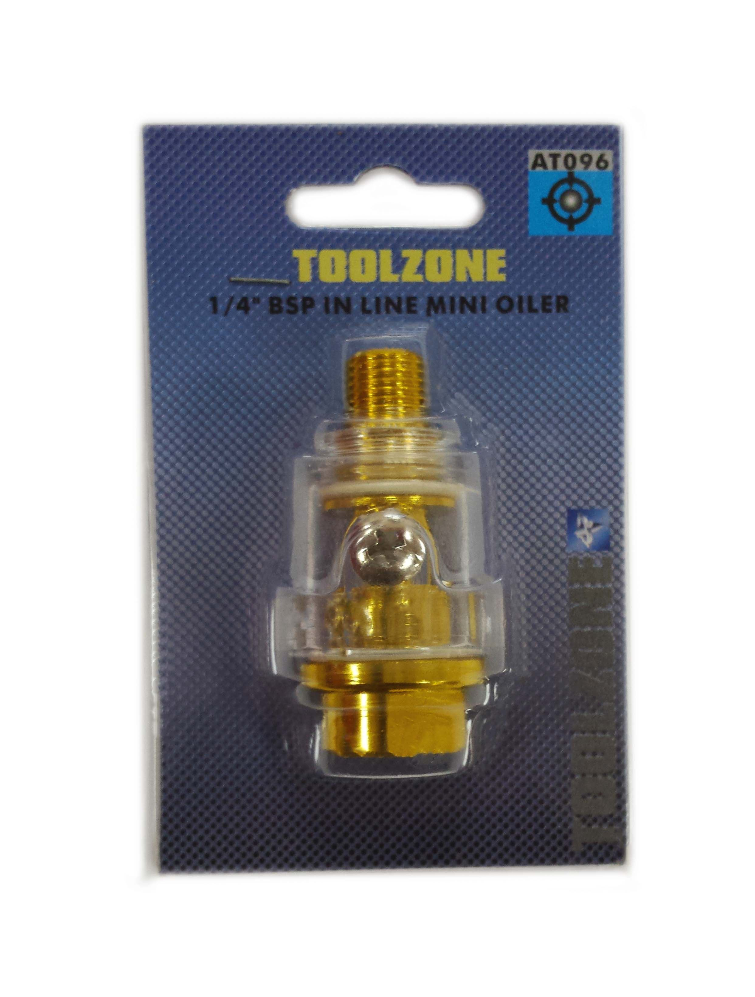Toolzone 1/4 '' Bsp Mini In Line Oiler
