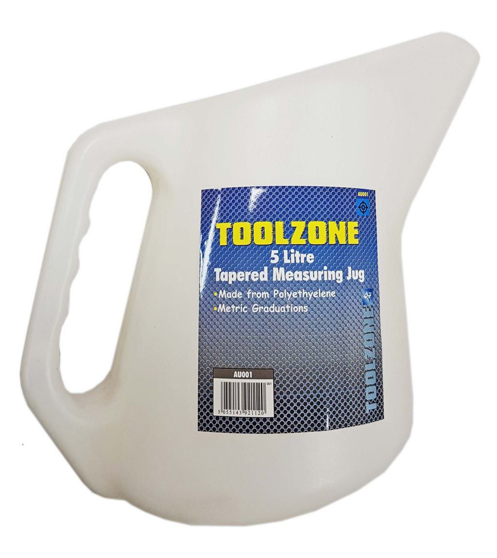 Toolzone 5 Litre Tapered Measuring Jug