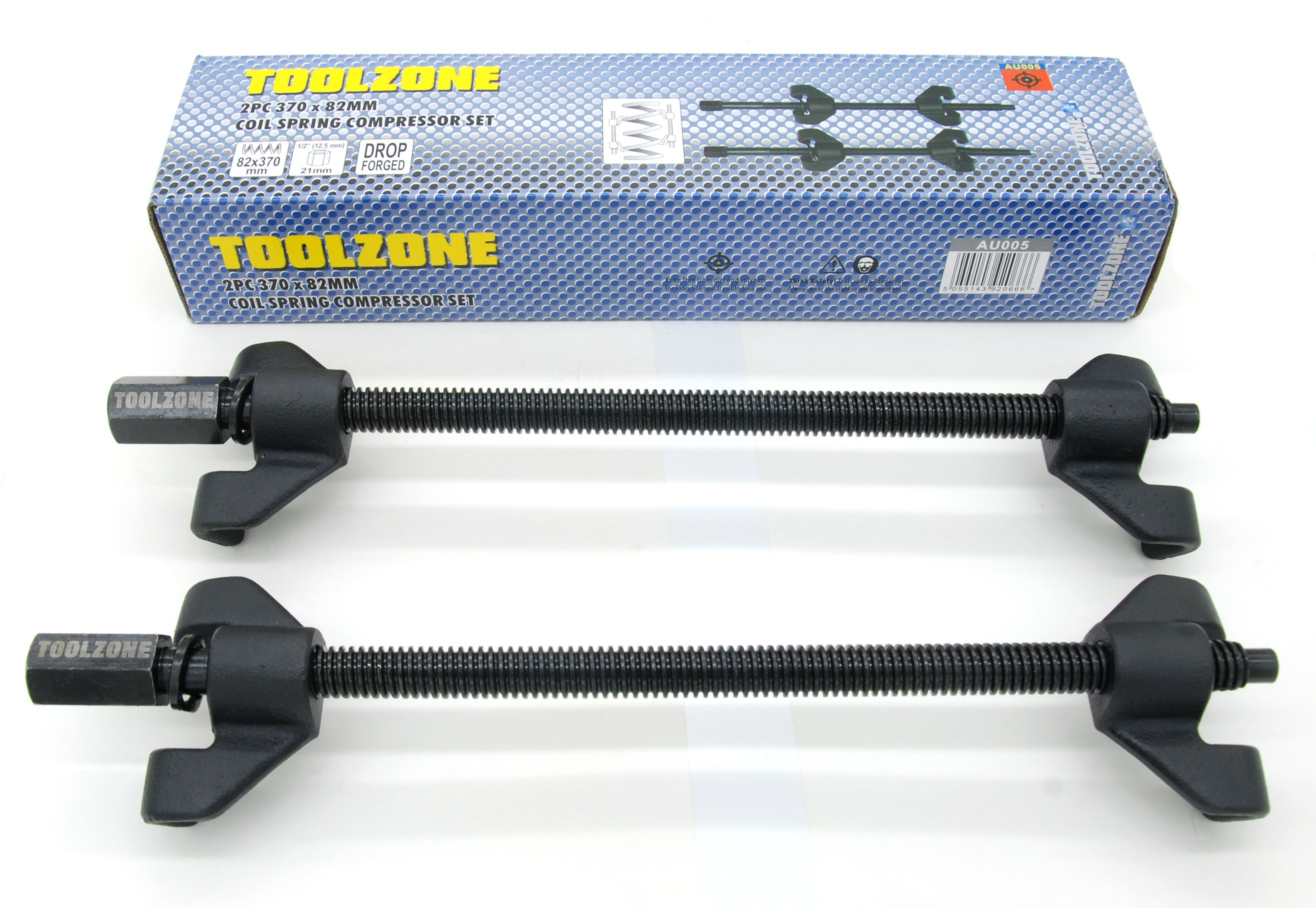 Toolzone 2Pc 370X82mm Coil Spring Compressor