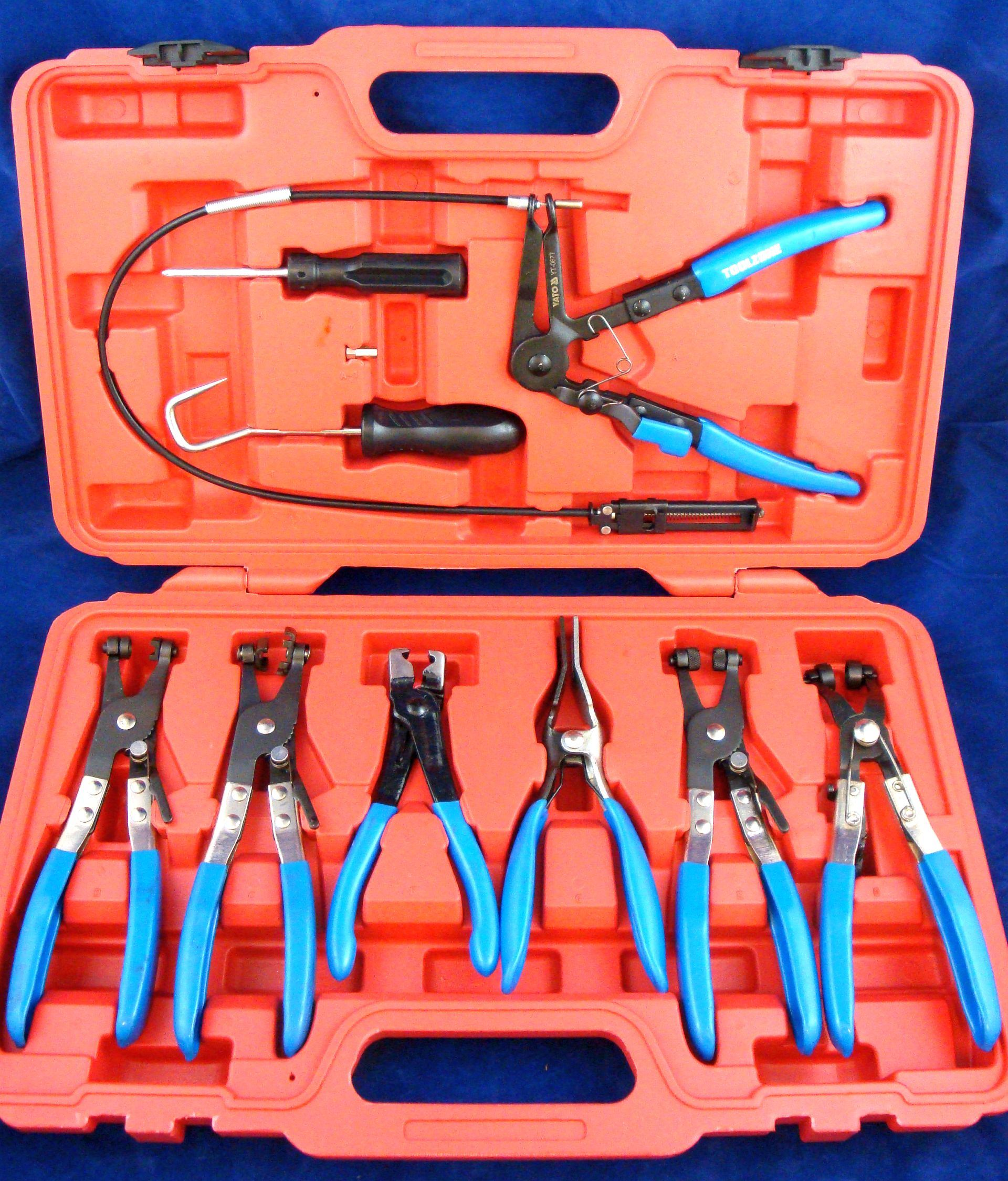 Toolzone 9Pc Hose Clamp Plier Set
