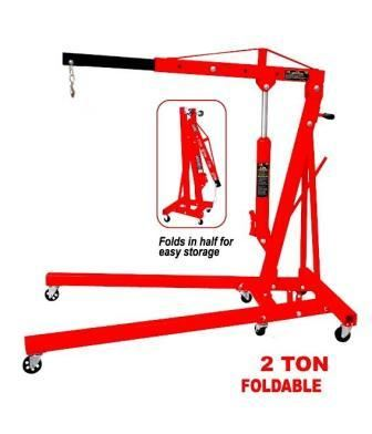 Toolzone 2 Ton Folding Engine Hoist Crane