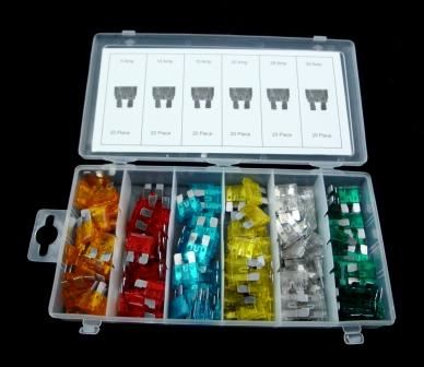 Toolzone 120Pc Std Car Fuses In Assort. Box