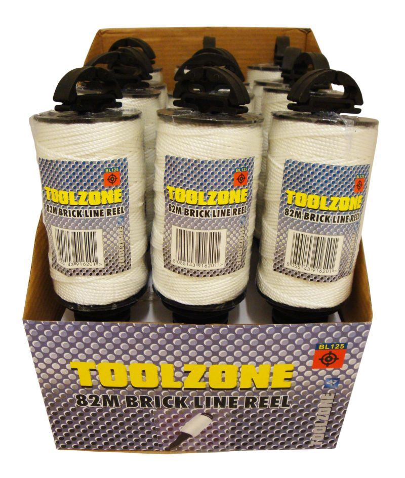 Toolzone White 82M Brick Line On Holder