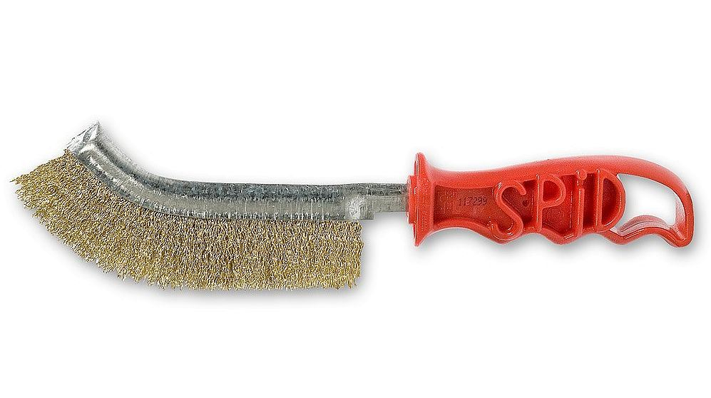 Toolzone Italian Brass Coated Spid Brush
