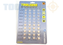 Toolzone 40Pc Assorted Size Button Batteries