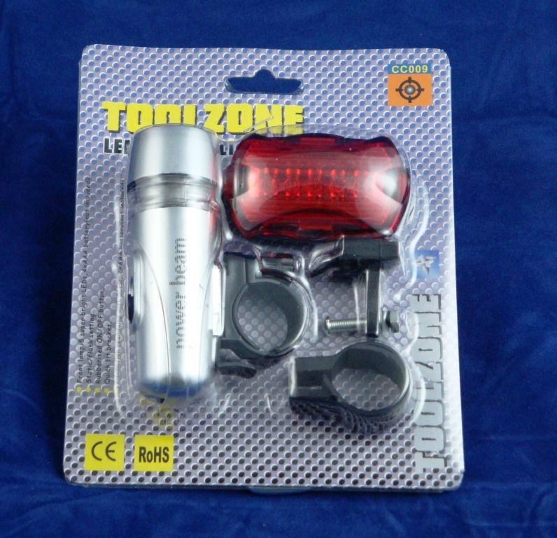 Toolzone 2Pc Led Bicycle Light Set