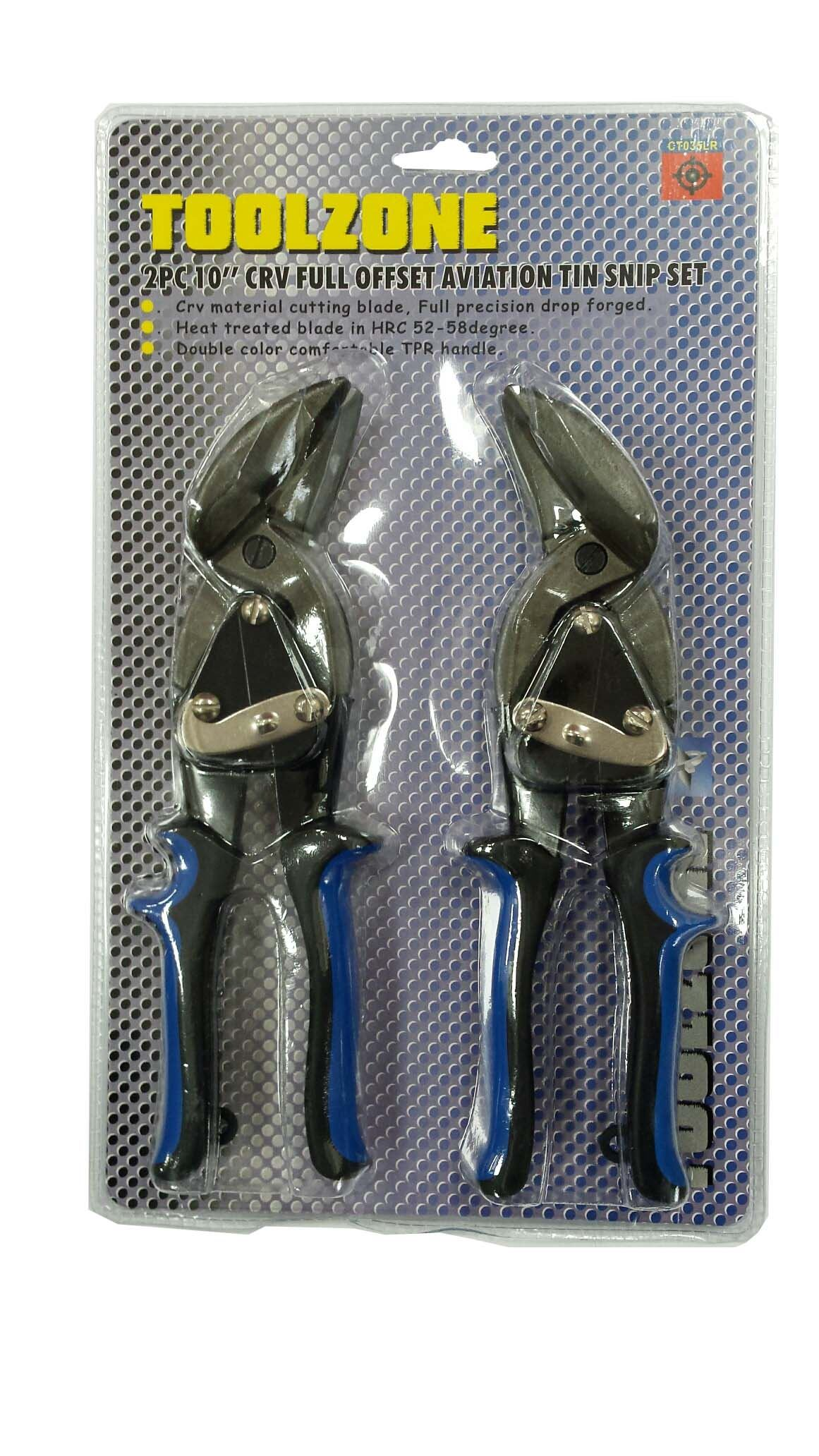 Toolzone 2Pc Fully Offset Aviation Snips