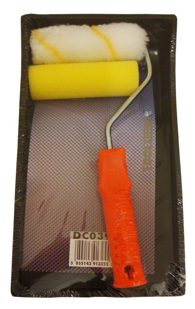 "Toolzone 4"" Mini Roller Set And Tray"