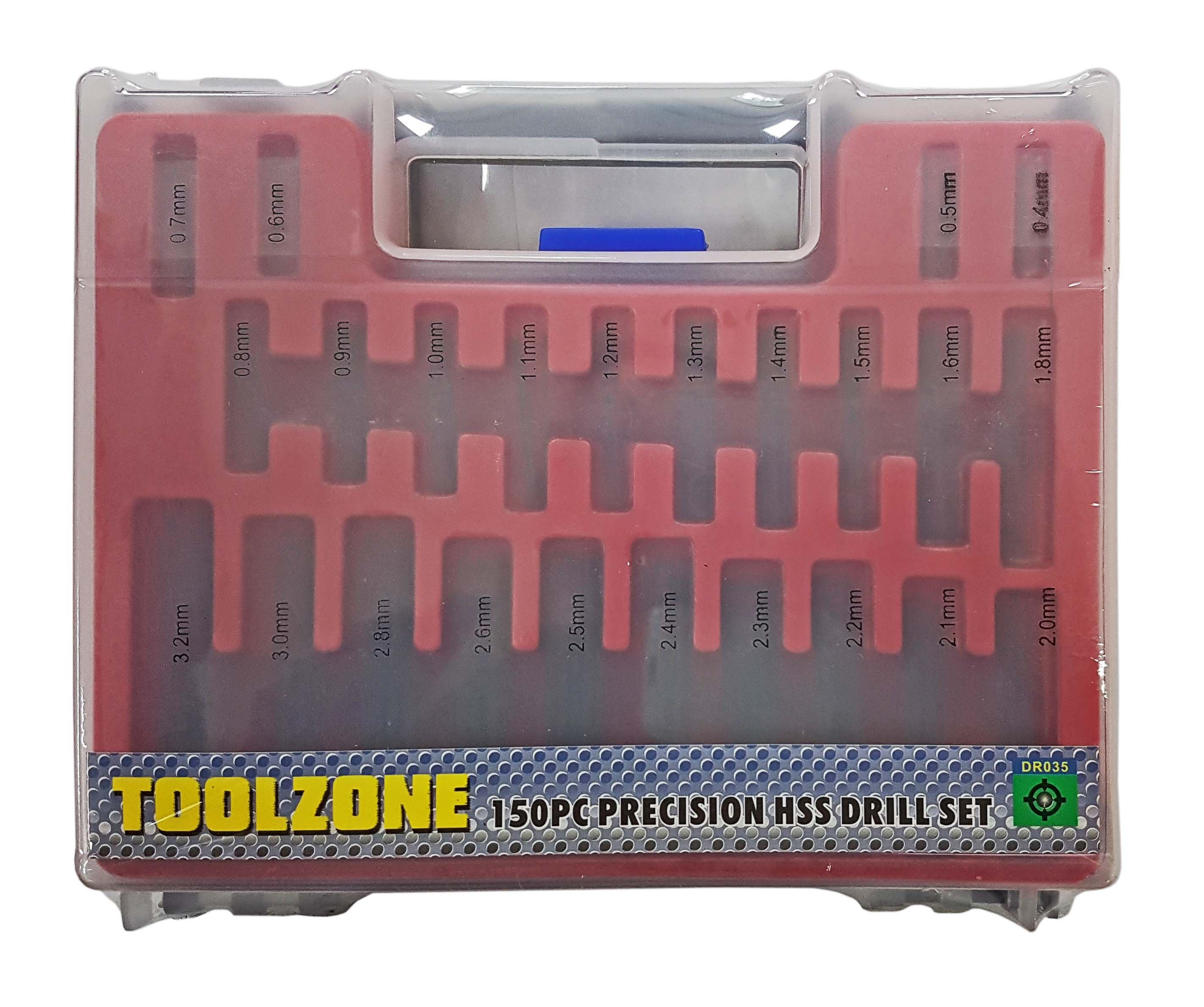 Toolzone 150Pc Precision Hss 4241 Drills