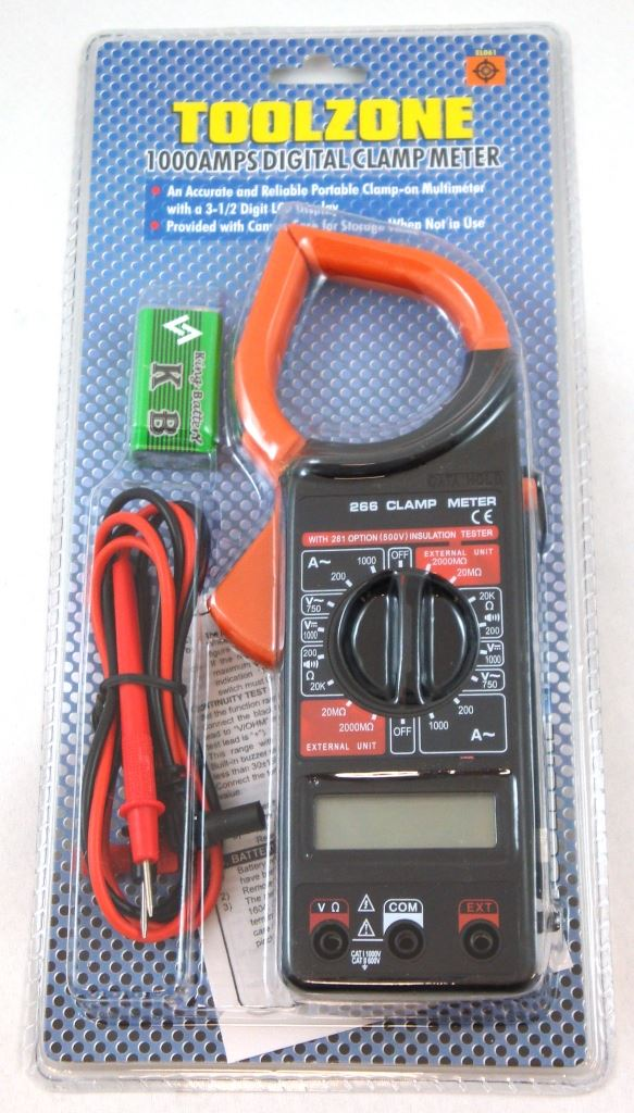 Toolzone 1000Amp Clamp Digital M/Meter