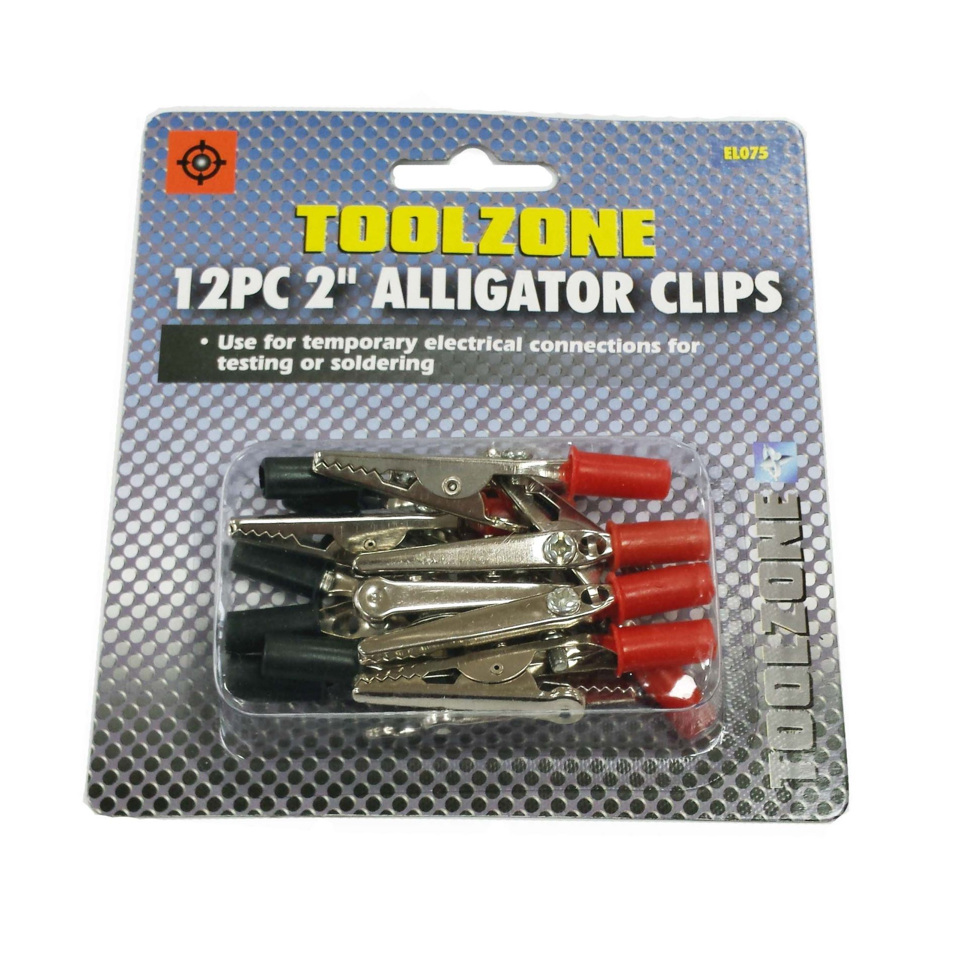 Toolzone 12Pc 2'' Ins Alligator Clips