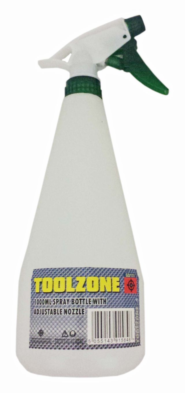 Toolzone 1000Ml Plastic Water Spray Bottle