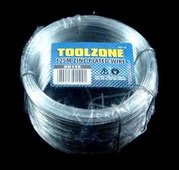 Toolzone 125M X 0.7Mm Zinc Galvanised Wire