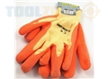 Toolzone Medium Dipped Latex Gloves 9