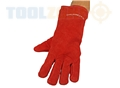 Toolzone Red Suede Gauntlets Lined Ce