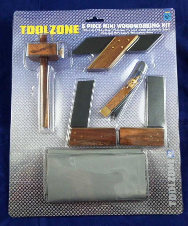 Toolzone 5Pc Mini Woodworking Kit