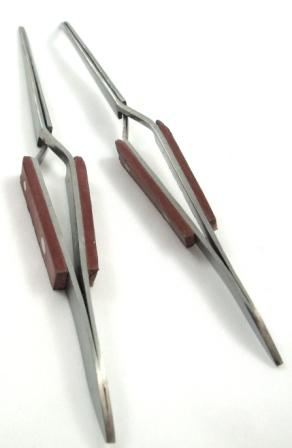 Toolzone 2Pc Self Locking Tweezers