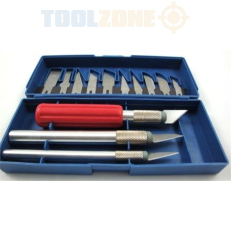 hobby toolzone 16pc precision hobby knife set toolzone tools. Black Bedroom Furniture Sets. Home Design Ideas