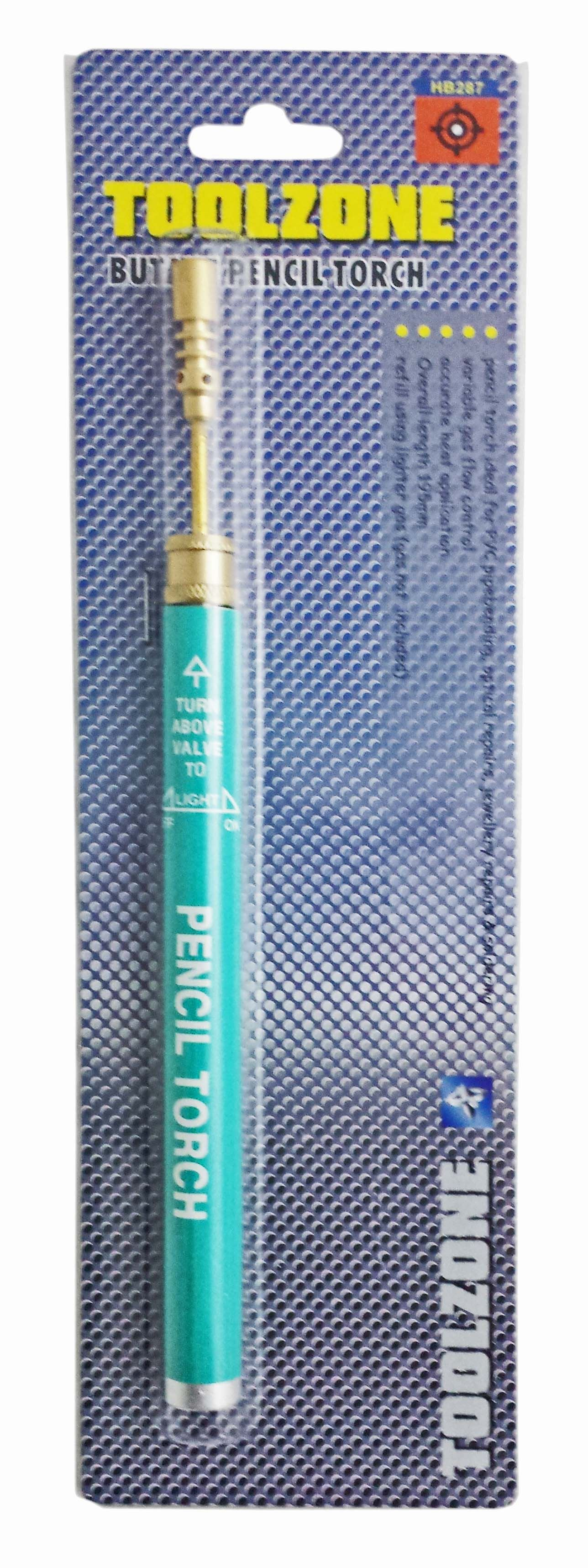 Toolzone Blue Butane Pencil Torch