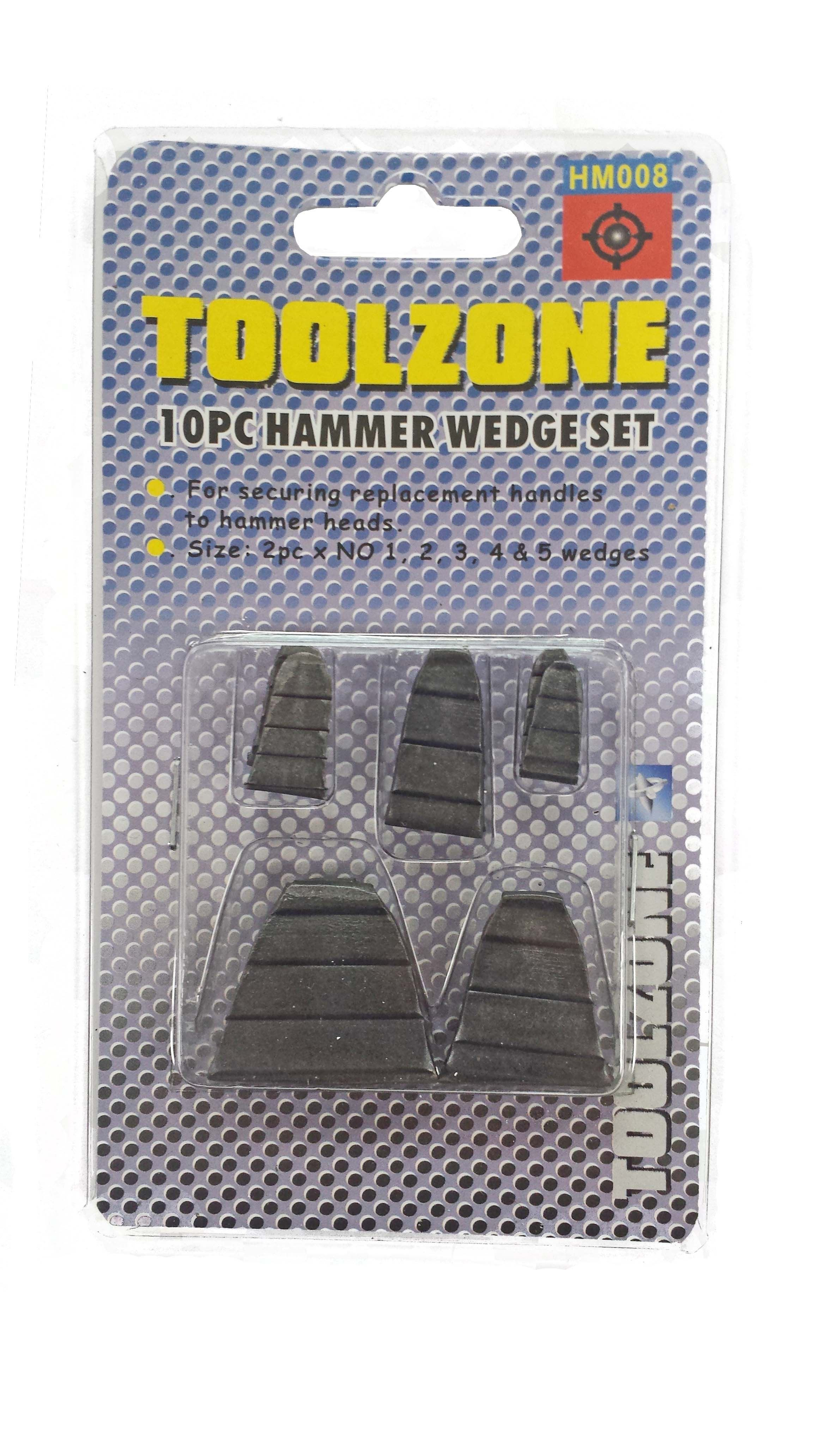 Toolzone 10Pc Hammer Wedge Set