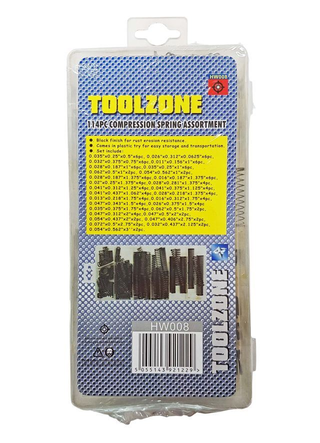 Toolzone 114Pc Compression Spring Assortme