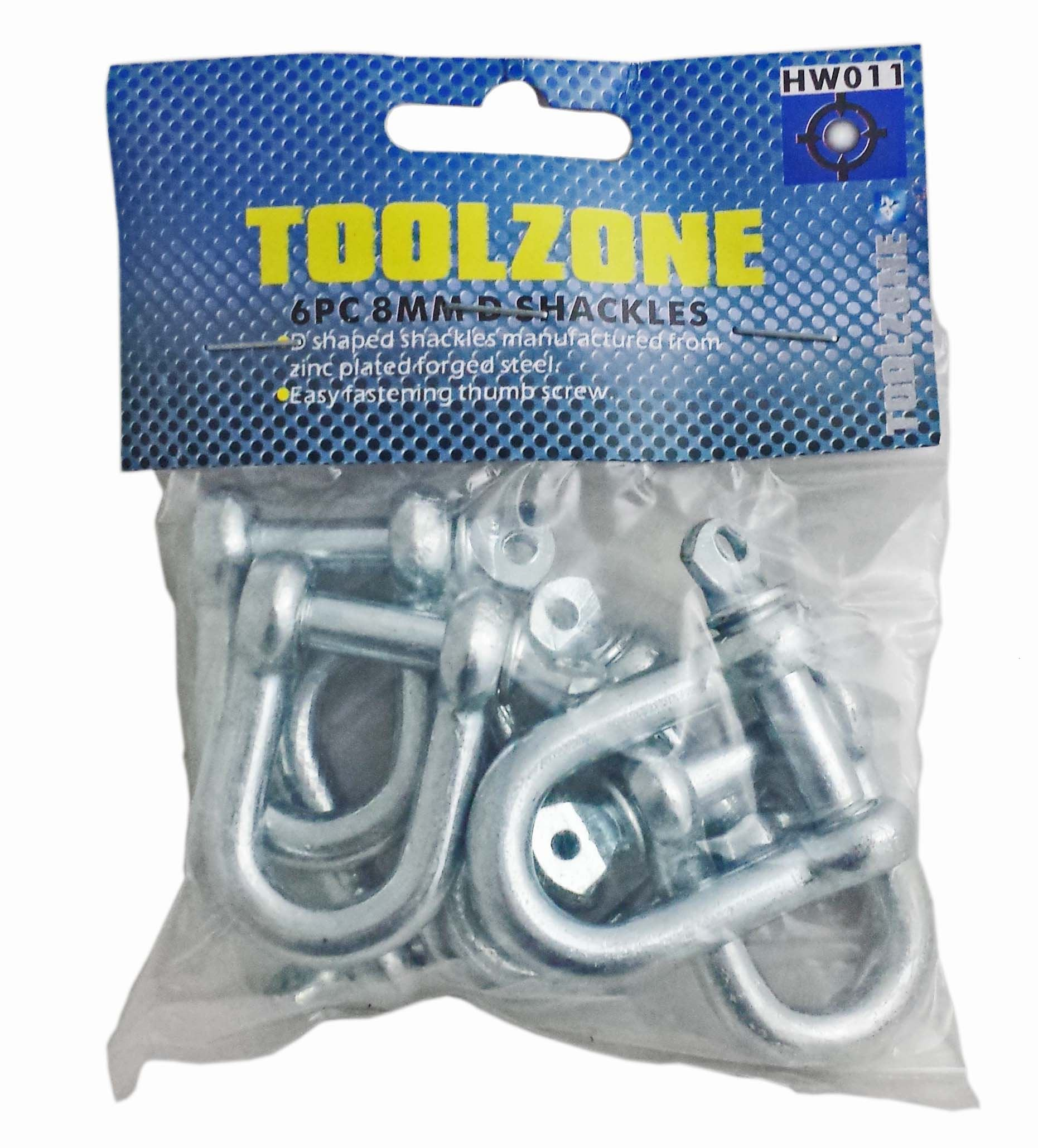 Toolzone 6Pc 8Mm D Shackles
