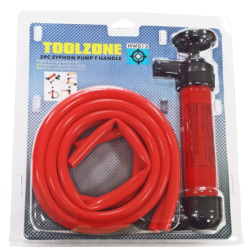 Toolzone Syphon Pump T Handle With Accessories
