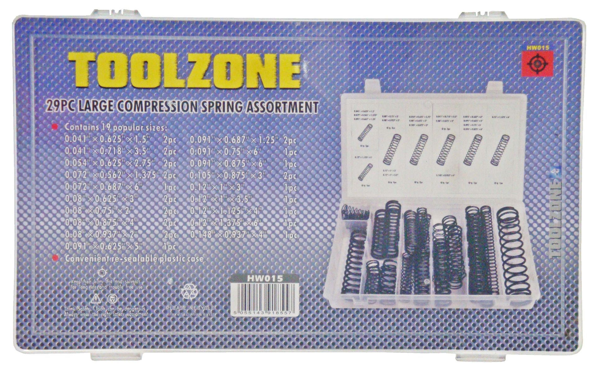 Toolzone 29Pc Large Compression Spring Asst