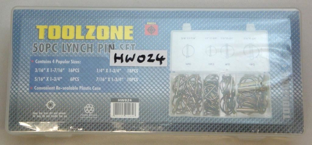 Toolzone 50Pc Lynch Pin Set