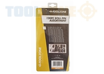 Toolzone 120Pc Roll Pin In Assort. Box