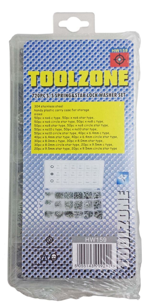 Toolzone 720Pc Steel Washers In Box
