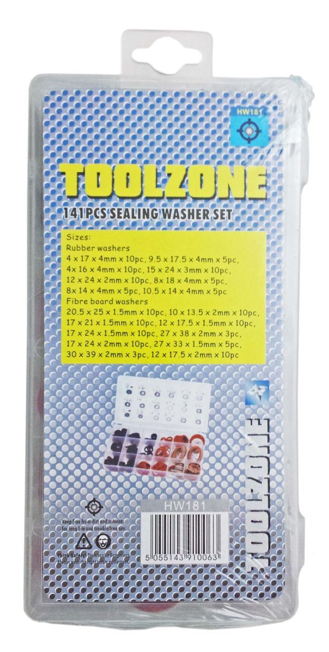 Toolzone 141Pc Sealing Washer Assort. Box