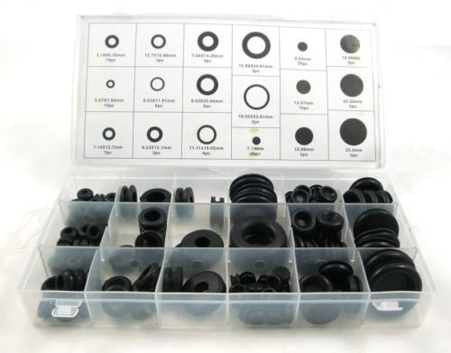 Toolzone 125Pc Rubber Grommet Assort. Box