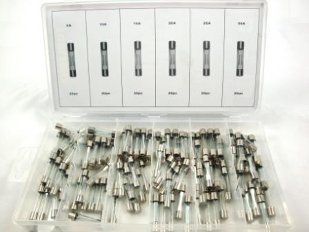Toolzone 120Pc Glass Fuse Assort. Box