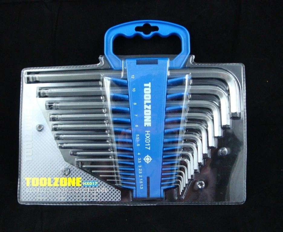 Toolzone 14Pc Ex.Long Ball Point Hex Keys