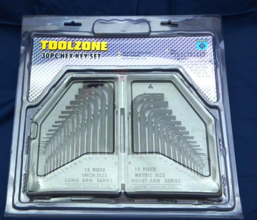 Toolzone 30Pc Hex Key Set Mm/Af In Case