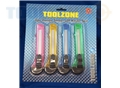 Toolzone 4Pc Lge Snap Off Knife Set