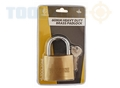 Toolzone 60Mm Hd Brass Padlock