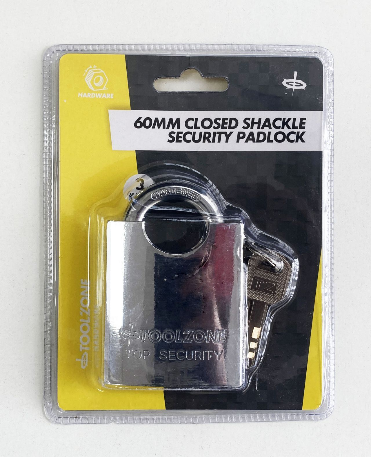 Toolzone 60Mm Closed Shackle Steel Sec Padlock